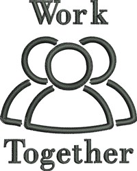 Work Together embroidery design