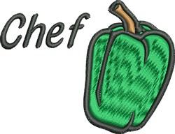 Pepper Chef embroidery design