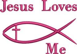 Jesus Loves Me embroidery design