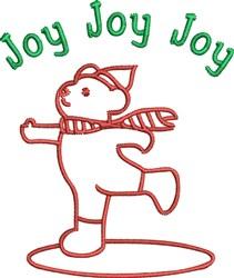 Joy Bear Outline embroidery design