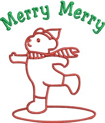 Merry Bear embroidery design