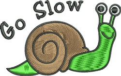 Go Slow embroidery design