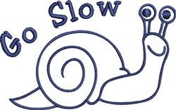Go Slow Outline embroidery design