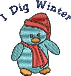 I Dig Winter embroidery design