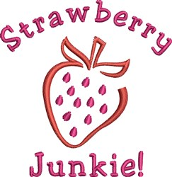 Strawberry Junkie embroidery design