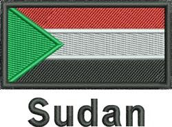 Sudan Flag embroidery design