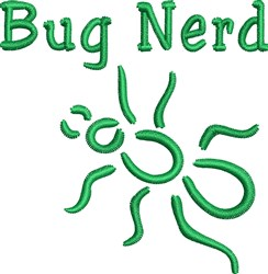 Bug Nerd embroidery design