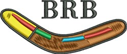 Boomerang BRB embroidery design