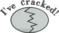 Ive Cracked embroidery design