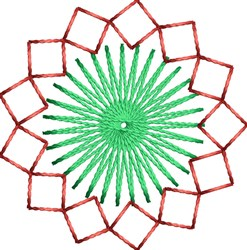 Starburst Decoration embroidery design