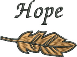 Hope Feather embroidery design