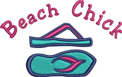 Beach Chick embroidery design
