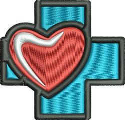 Heart Cross embroidery design