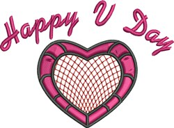 Happy V Day embroidery design