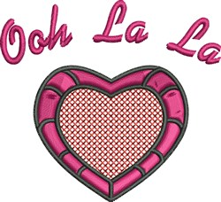Ooh La La embroidery design