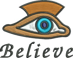 Believe Eye embroidery design