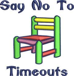 No Timeouts embroidery design