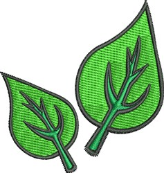 Leaves embroidery design