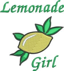 Lemonade Girl embroidery design