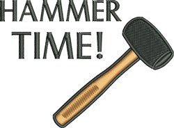 Hammer Time embroidery design