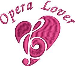 Opera Lover embroidery design