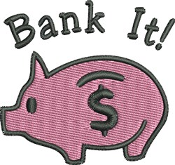 Bank It embroidery design