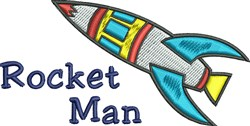 Rocket Man embroidery design