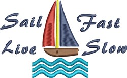 Sail Fast embroidery design
