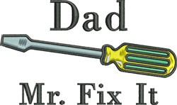 Fix It Dad embroidery design
