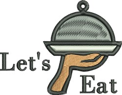 Lets Eat embroidery design