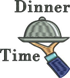Dinner Time embroidery design