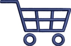 Shopping Cart embroidery design