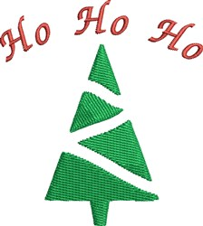 Ho Ho Ho Tree embroidery design