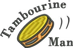 Tambourine Man embroidery design