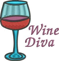 Wine Diva embroidery design