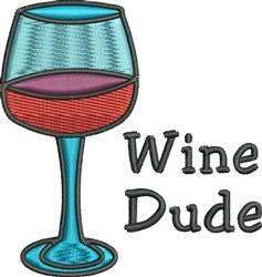 Wine Dude embroidery design