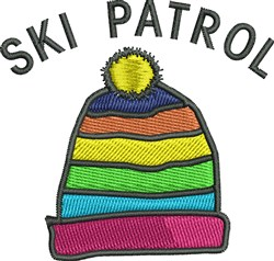 Ski Patrol embroidery design