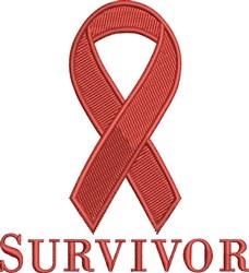 Survivor Ribbon embroidery design