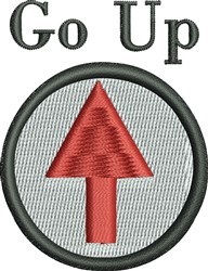 Go Up embroidery design
