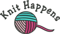 Knit Happens embroidery design
