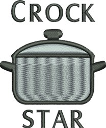 Crock Star embroidery design