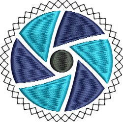 Blue Circle embroidery design