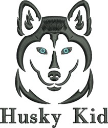Husky Kid embroidery design
