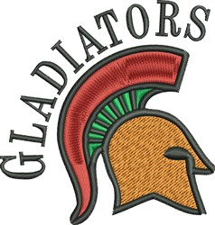 Gladiators embroidery design