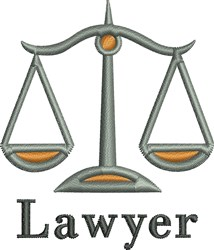 Lawyer embroidery design
