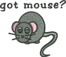 Got Mouse embroidery design