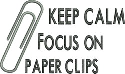 Focus On Paper Clips embroidery design