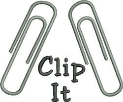Clip It embroidery design