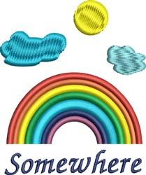 Rainbow Somewhere embroidery design