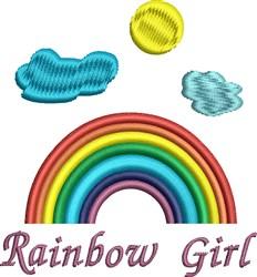 Rainbow Girl embroidery design